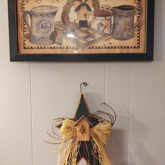Set of 2 wall hangings star and Angel picture
